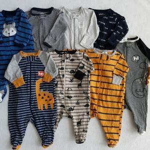 Baby Zip Up Sleepers (lot of 8)
